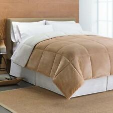 Cuddl Duds Cozy Soft Faux-Mink Down-Alternative Reversible Comforter FULL QUEEN