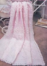 Crochet Pattern ~ PRETTY POPCORNS BABY AFGHAN Popcorn ~ Instructions