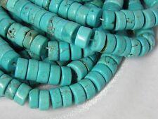 "10x5mm Blue Turquoise heishi Beads 15"" Strand S2"