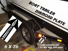 Boat Trailer Highly Polished Aluminum Diamond Plate Fender Covers..