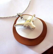 UNIVERSITY OF TEXAS LONGHORNS STACKED CHARM PENDANT NECKLACE game day jewelry