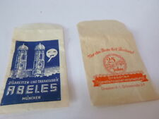 Zwei alte Zigaretten-Tüten Abeles + Dresdner Zigarettenpapierverarbeitung
