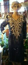 Vintage Hand Beaded Silk Gown New with tags and repair beads. Never worn