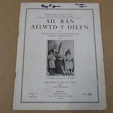 songbook AIL RAN AELWYD Y DELYN, Tom Williams, 1944