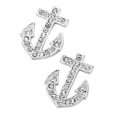Anchor Fashionable Earrings - Stud - Sparkling Crystal - 2 Colors