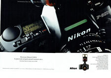 Publicité Advertising 088  1991   Nikon  appareil photo F 801S  (2pages)*