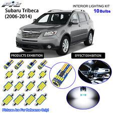 10 Bulbs LED Interior Dome Light Kit Cool White For Subaru Tribeca 2006-2014