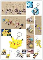 Anime Variety Key Chain Pikachu Totoro Attack on Titan Rem Ram Keyring Fans Gift