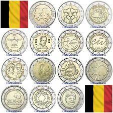 2 Euros Conmemorativos BELGICA Sin circular 2005 - 2016