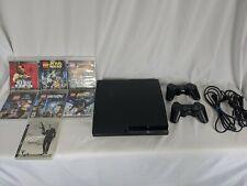 Sony PlayStation 3 PS3 Slim Console 120GB LEGOS 7 Games 2 Controller Bundle Lot