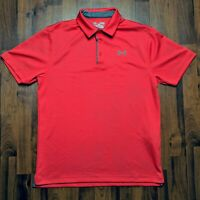 Under Armour Mens UA Tech Heat Gear Loose Fit Polo Golf Red Gray Shirt Size M