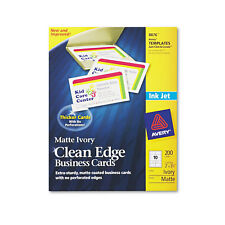 Avery True Print Clean Edge Business Cards Inkjet 2 x 3 1/2 Ivory 200/Pack 8876