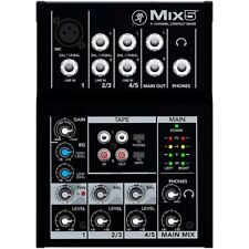 Mackie Mix5 5-Channel Compact Mixer with Single MIc Pre