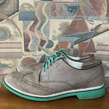 Cole Haan Men Shoe Air Franklin Size 11M Brown Wingtip Oxford Pre Owned