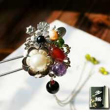 HAND MADE Prestige Antique hair stick Pearl Gemstone hair pin Ancient Chinese