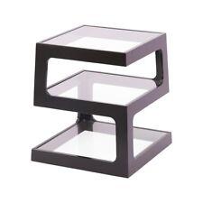 Onyx Triple Level Black Side / End Table Bedside Living Room Office