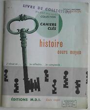 Cahier D'Histoire Cours Moyen 1971 de la Préhistoire a louis Xlll R Drayron