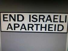 End Israeli Apartheid     Travel Decal Bumper Sticker Label Palestine