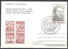 Poland 1985 - W.Boratyński, creator of postage stamps - Cp 908  - postcard
