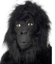 Gorilla Fancy Dress Mask Full Head Latex & Fur Monkey Mask by Smiffys New