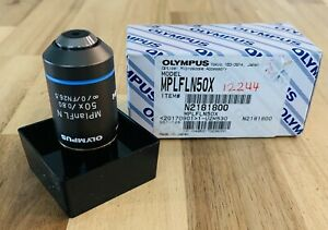 Olympus ~ MplanFLN 50X/.80 DRY MPLFLN Microscope Objective M Plan FL N ~ 50X