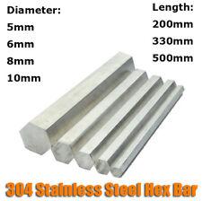56810mm Diameter 304 Stainless Steel Hex Rod Bar Shaft 200mm330mm500mm Long