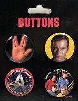 Star Trek Originale Serie 4 Distintivo Confezione ( NM 93832)