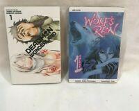 Deadman Wonderland vol 1 & Wolf Rain vol 1 English Manga 2 book lot