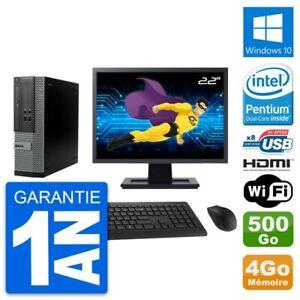 """PC Dell 390 SFF Ecran 22"""" Intel G630 RAM 4Go Disque 500Go HDMI Windows 10 Wifi"""