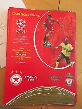 CSKA Sofia v Liverpool Official programme 10/08/2005