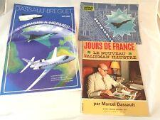 JOURS DE FRANCE MARCEL DASSAULT + 2 REVUES INFO DASSAULT BREGUET