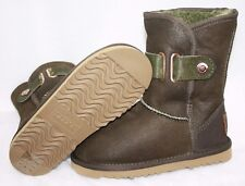 NEW Infant Toddler Girls Size 9 / 10 AUSTRALIA LUXE Gypsy Olive Boots Shoes