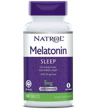 Natrol Melatonin 5 mg Time Release Drug-FreeSleep Aid & Patterns - 100 Tablets