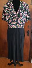 Vintage 1930s I. Magnin Black and Floral Rayon Dress With Jacket