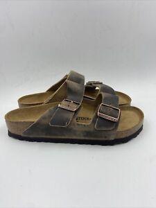 Birkenstock Womens Arizona Tabacco Brown Sandals Size 39 M , 049