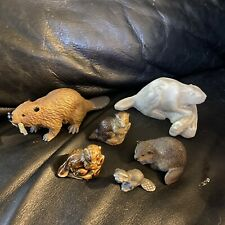 Beaver Collection 6 Figurines. Adorable!