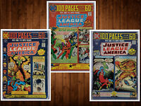 Lot of 3 Justice League of America #112 115 116 Giant 100 pages 1974 FN See List