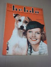 HEBDO - no 80 / ROCHELLE HUDSON (1934) J.-P. AUMONT / G. ROGERS / LAUREL & HARDY