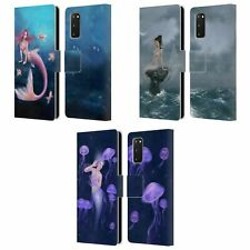 OFFICIAL RACHEL ANDERSON MERMAIDS LEATHER BOOK CASE FOR SAMSUNG PHONES 1