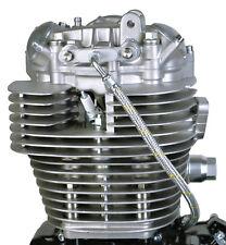Yamaha SR500 SR400 XT500 TT500 Twin Feed Oil Line Kit Steel Braided 19-003