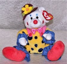 Ty Beanie Babies Clown Bear Plush Juggles Oct 9 2004 with Tags /Rare Tags