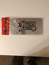 NBA Philadelphia 76ers Basketball Mirrored Logo License Plate - NEW!