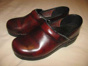 DANSKO Brown Leather Professional Clogs Size 39 U.S. 8.5