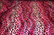 VELBOA FAUX FUR FUCHSIA LEOPARD ANIMAL PRINT FABRIC POLY THE YARD FREE SHIPPING