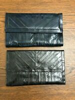PRICE REDUCED! 2 EELSKIN Envelope Purses Clutches Bags Handbags 1-blue, 1-brown