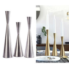 Vintage Modern Metal Taper Candlestick Candle Holder Table Centerpiece Wedding