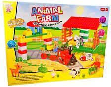 64 pcs Kids Blocks Animal Farm Set, Children's Creative Toy, Ages 3+, Gift Idea