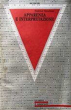 FEDERICO VERCELLONE APPARENZA E INTERPRETAZIONE GUERINI E ASSOCIATI 1989