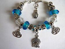Turquoise Glass Costume & Charm Bracelets