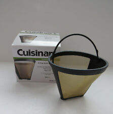 Cuisinart GTF-4 Gold Tone Filter for Cuisinart 4-Cup Coffeemakers, Gold/Black